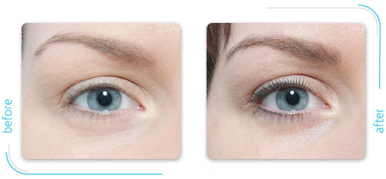 Microbladed eyeliner