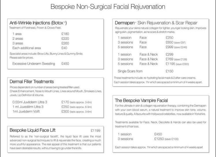 Aesthetic Treatments | Botox & Fillers | Mole & Skin Tag Removal | Leeds