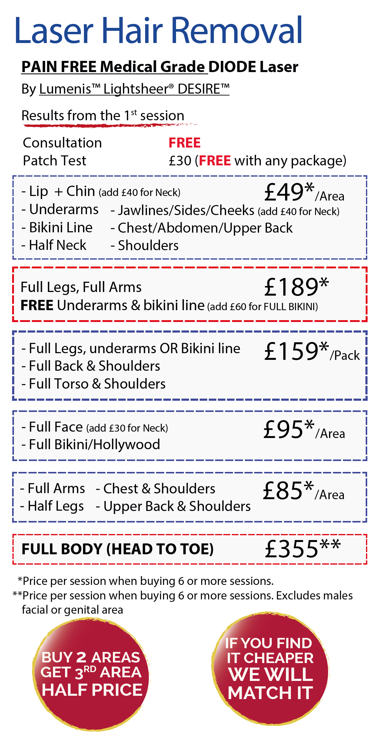 Laser Hair Removal in Leeds Prices - Christmas Offers