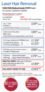 Laser Hair Removal in Leeds Prices - Supreme Skin Clinic